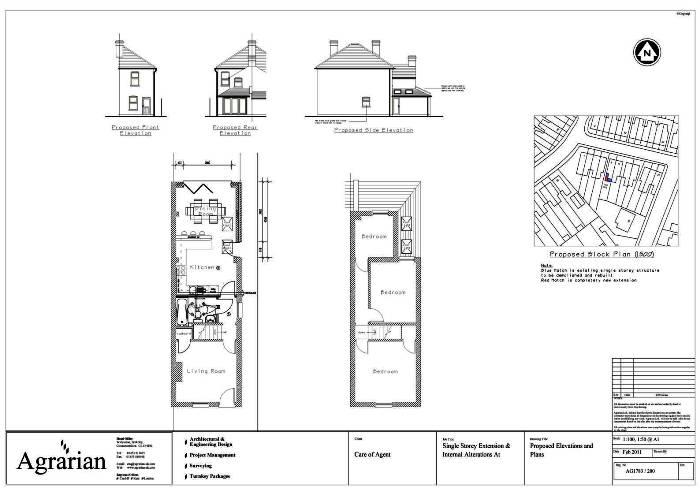 Single Storey Extension Plan London Birmingham