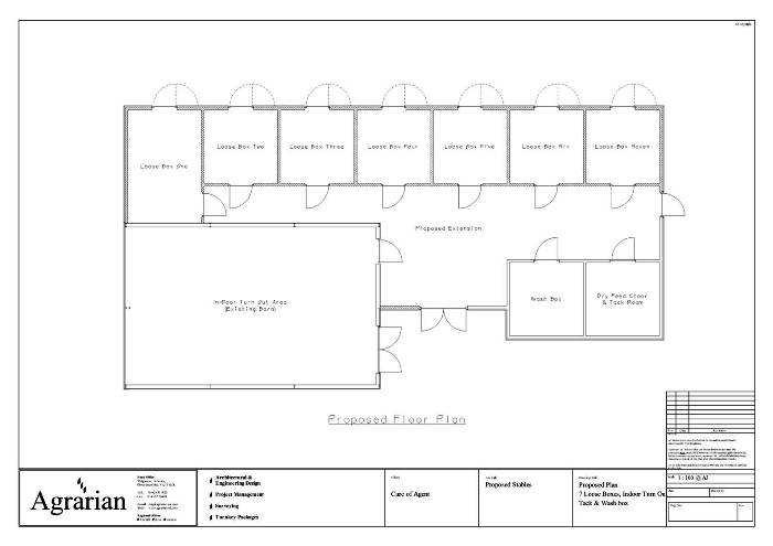 Seven Box Stable Plan With Wash BoxTack RoomFeed Store And Indoor Turnout